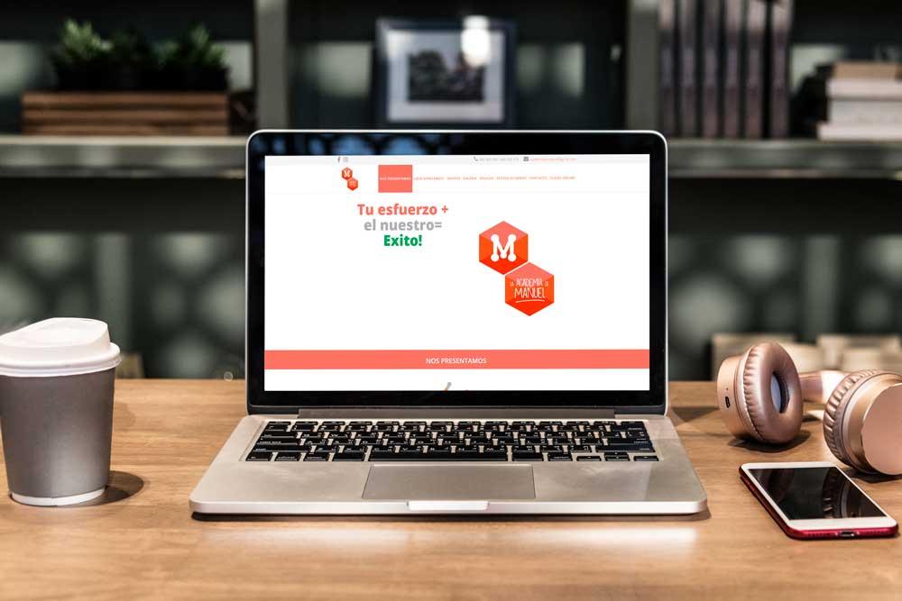 Diseño Web Academia de Manuel