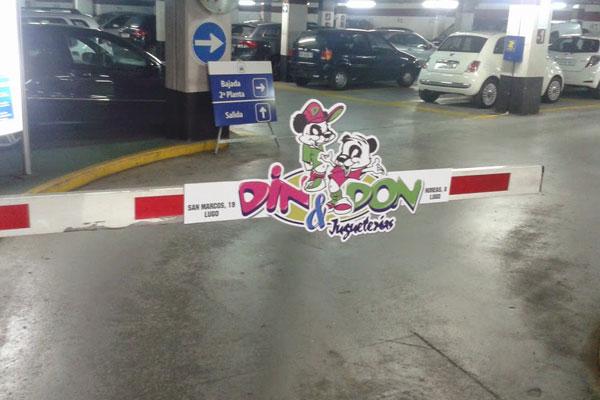 Publicidad en Parkings Din Don