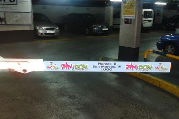 Publicidad en Parkings Barrera Din Don
