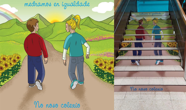 CEIP Rosalía de Castro en Lugo: escaleras