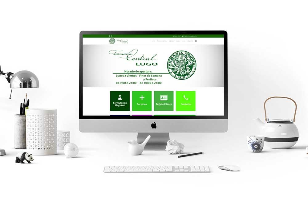 Diseño Web Farmacia Central Lugo