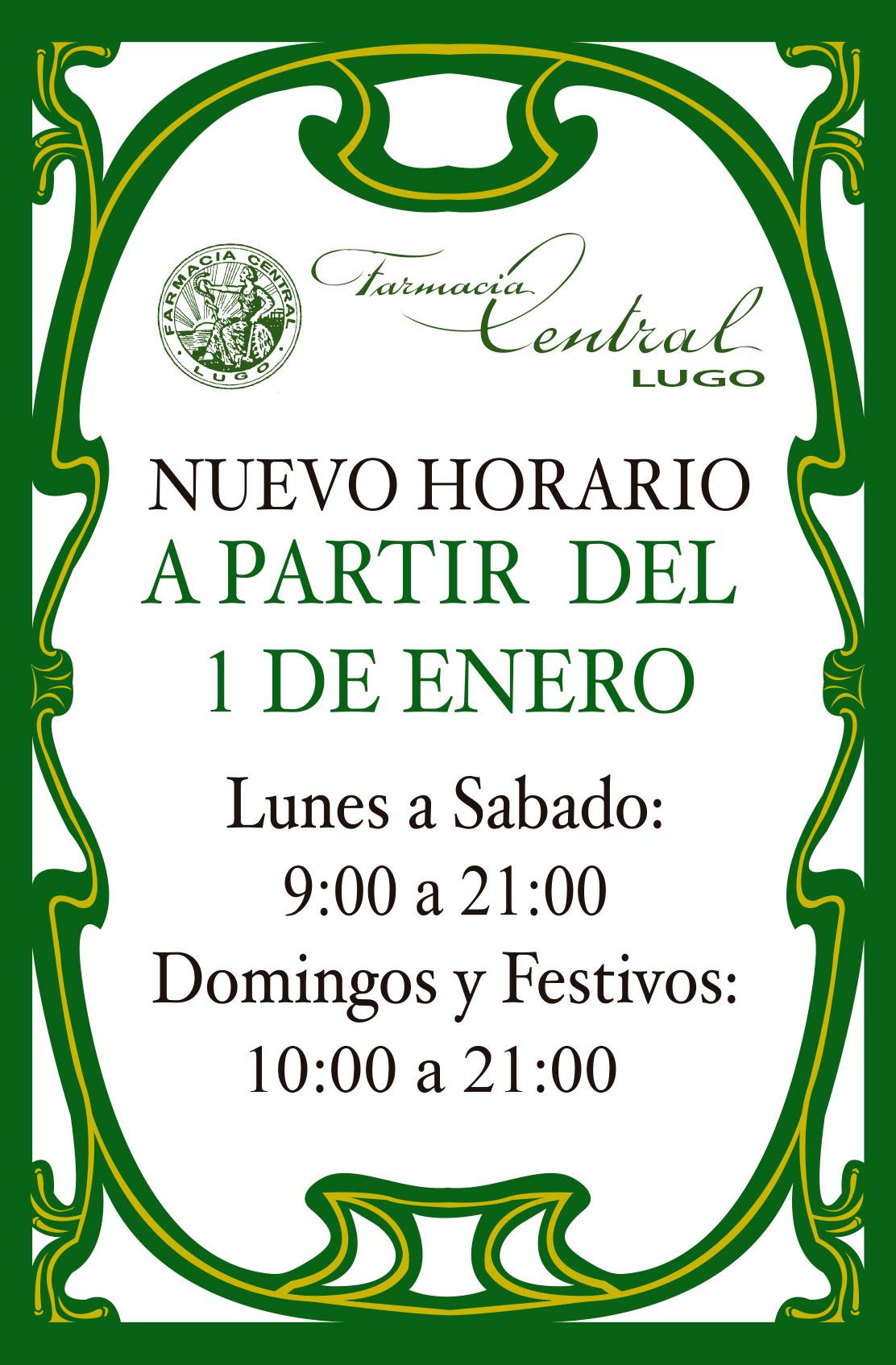 Farmacia Central Lugo: horarios
