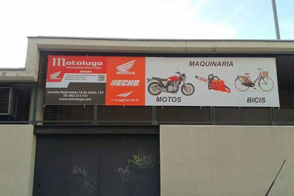 Publicidad en Parkings Motolugo
