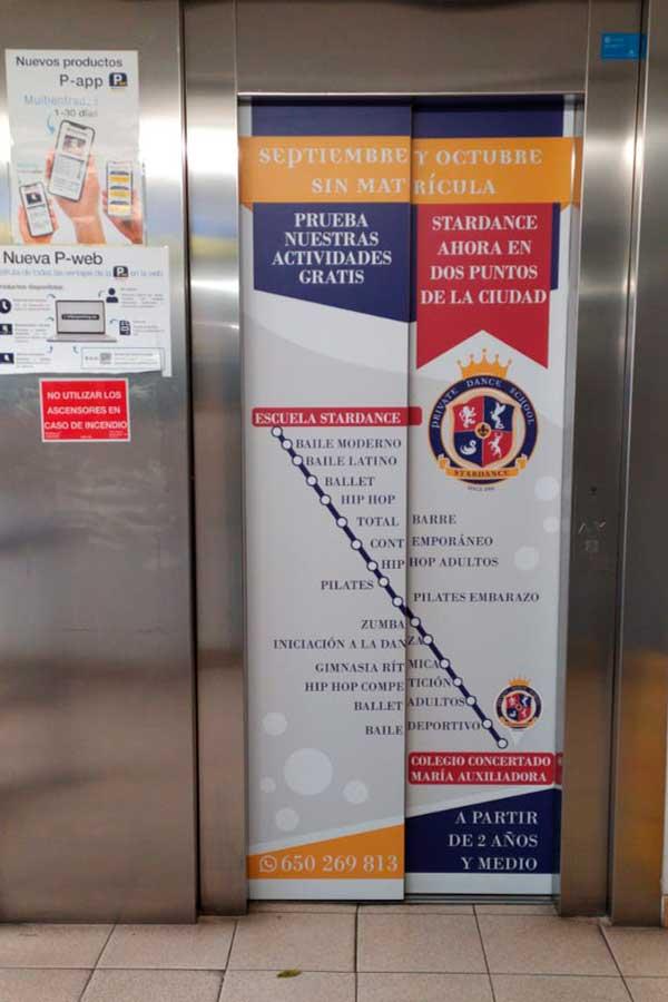 Vinilos ascensor Stardance