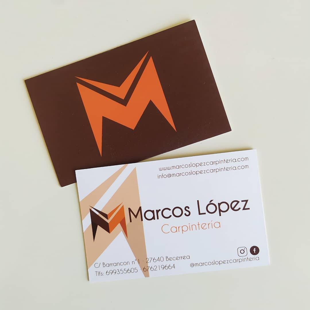Diseño  tarjetas Marcos López carpintería