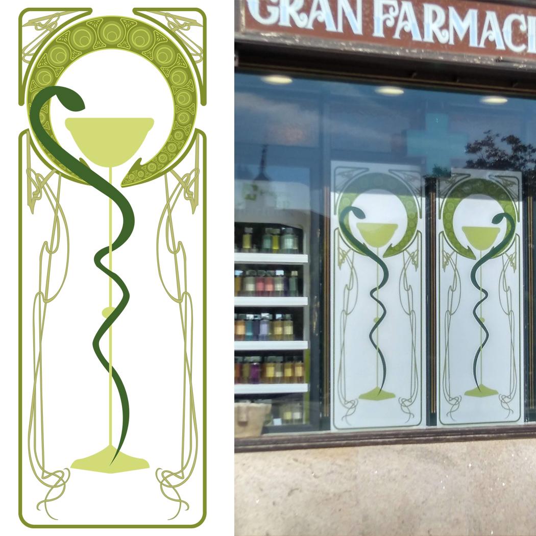 Vinilos Farmacia Central Lugo